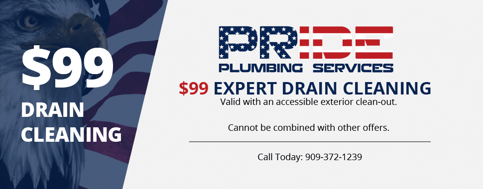 $99 Drain Cleaning Special Coupon